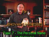 Personal Name of Jehovah